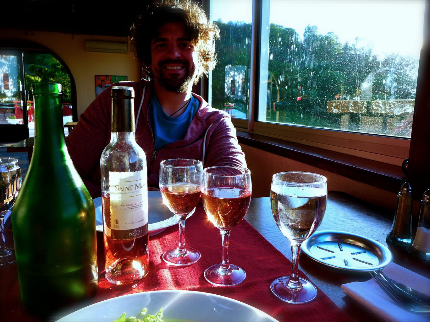 And we treated ourselves to a very nice dinner with a view worth a million Euros.